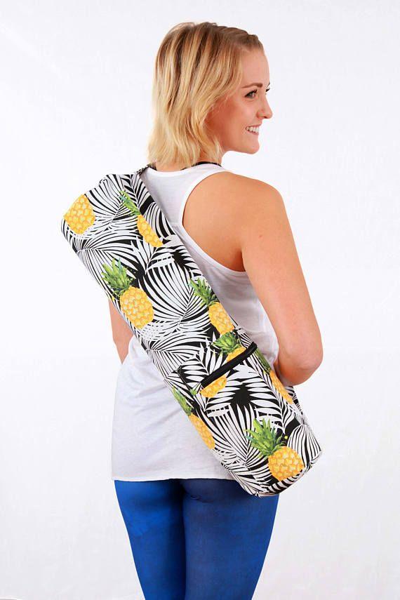 Yoga Mat Bag // Pineapple // Pineapple Bag // Handmade Bag //