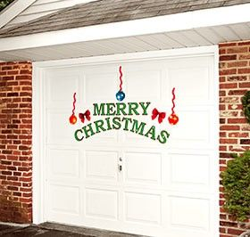 Christmas Garage Door Décor @ Harriet Carter. Also Has For Other Holidays  (valentines,
