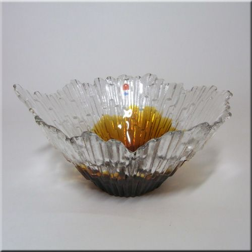 Vintage Humppila Finnish Glass Bowl