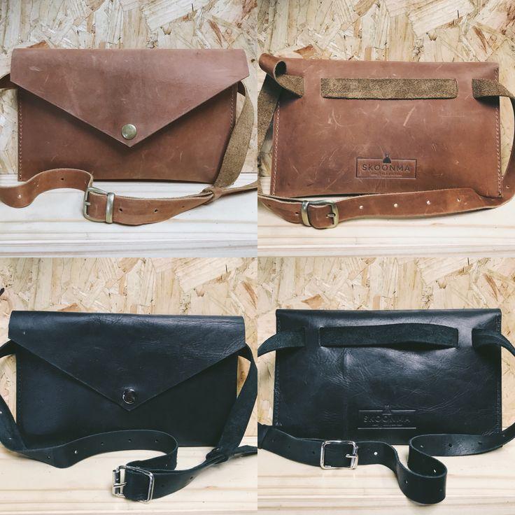 Genuine leather moonbags / fanny packs