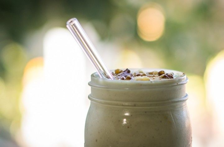 Post-Workout Banana Nut Shake  Ingredients:  1 banana, sliced and frozen 1 cup cashew milk or almond milk 1/2 tablespoon ground cinnamon 1 tablespoon honey 1/2 teaspoon of vanilla extract Directions:  Combine ingredients in blender and blend until smooth Pour yourself a glass and ENJOY!