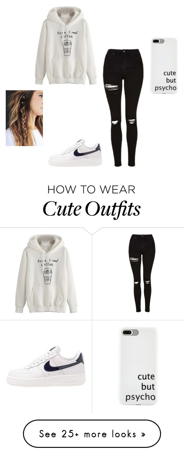 """""""This Whole Outfit Is True"""" by keefesencen on Polyvore featuring Topshop and NIKE"""