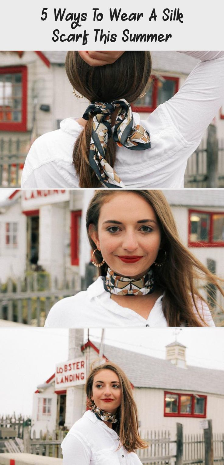 5 Ways To Wear A Silk Scarf This Summer - The Coastal Confidence, |The Coastal Confidence| |TCC| How to wear a silk scarf? How to style a silk scarf? How to have multiple ways to wear a scarf? #summerstyle #style #scarf #eastcoast #styleinspiration #preppy #blogger #summerhairstylesNoHeat #summerhairstylesMen #summerhairstylesColor #summerhairstylesWithExtensions #summerhairstylesForBoys