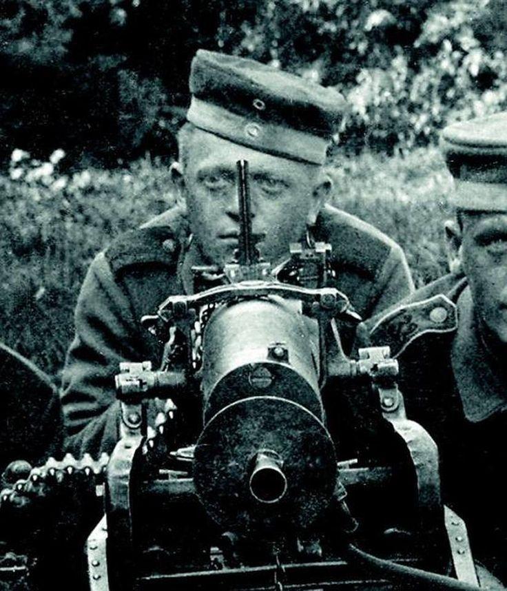 MG 08, German version of the Maxim machine gun.