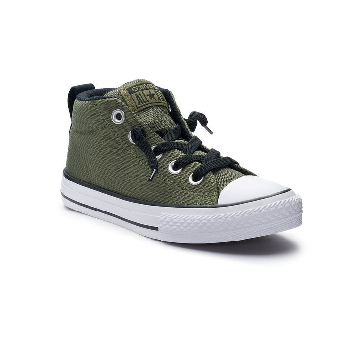 Boys' Converse Chuck Taylor All Star Street Mid Slip-On Sneakers, Size: 3, Green Oth, Durable