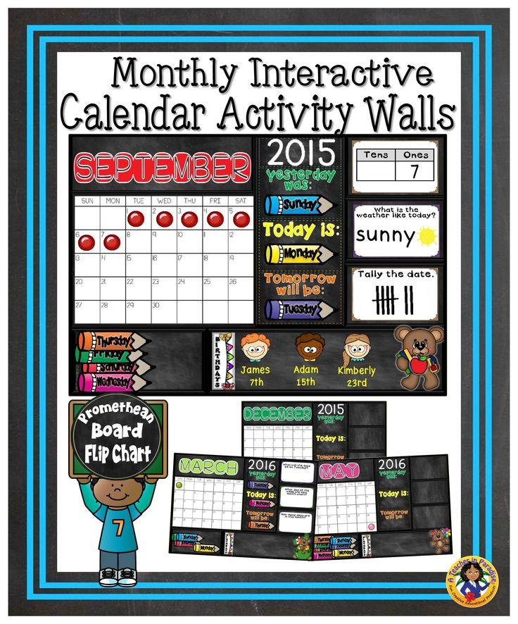 Interactive Calendar Ideas : Best promethean board images on pinterest