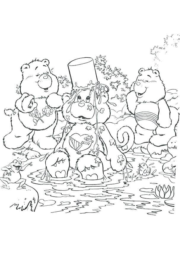 Care Bears Coloring Pages Having A Bath Page Characters Carebears Bear Cousins Bear Coloring Pages Christmas Coloring Pages Coloring Pages