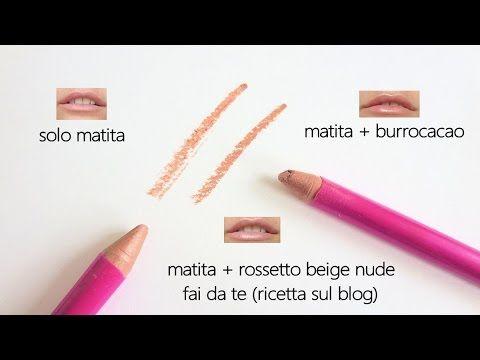 Matita labbra fai da te col metodo della cannuccia (tonalità nude) - YouTube