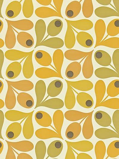 Buy Orla Kiely House for Harlequin Acorn Spot Wallpaper, Orange, 110419 online at JohnLewis.com - John Lewis