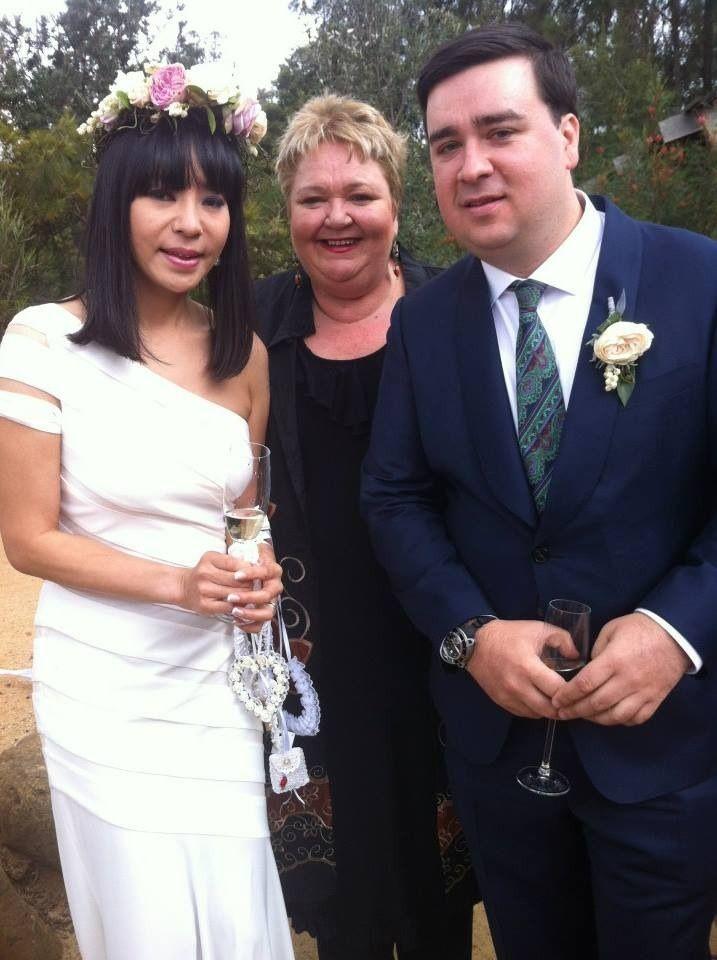 Sam and Yumi Hammington re commitment ceremony at ...