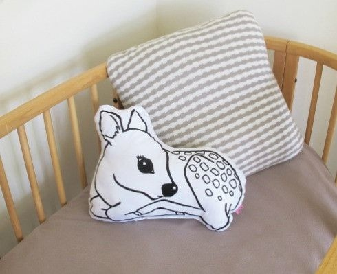 Fawn Cushion http://missmollycoddle.co.nz/collections/little-home