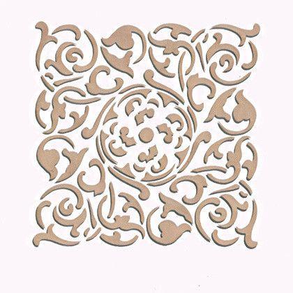 Wall Stencil | Small Verona Tile Stencil | Royal Design Studio Stencils