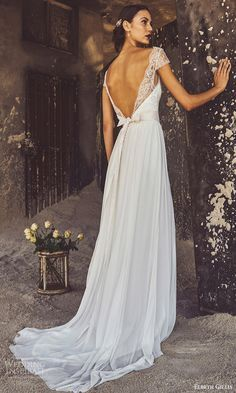 elbeth gillis bridal 2017 cap sleeves aline wedding dress (claire) bv lowback train