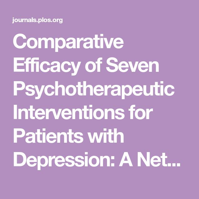 Comparative Efficacy of Seven Psychotherapeutic Interventions for Patients with Depression: A Network Meta-Analysis