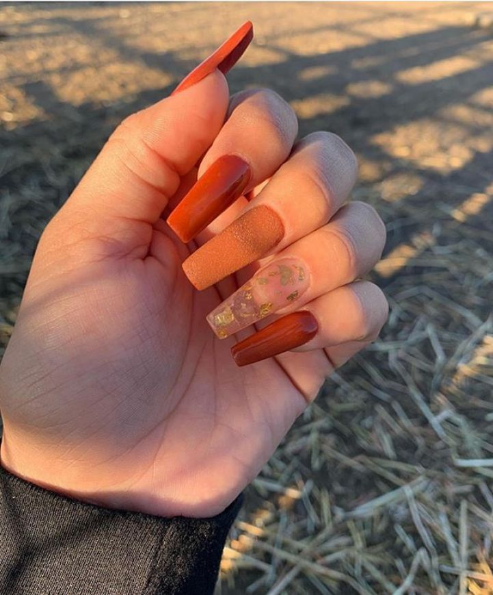 39 Trendy Fall Nails Art Designs Ideas To Look Autumnal And Charming Autumn Nail Art Ideas Fall Nail Fall Nail Art Fall Nail Art Designs Fall Acrylic Nails