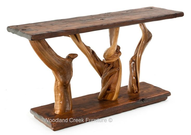Natural Wood Sofa Table Available in Custom Sizes by Woodland Creek  Furniture