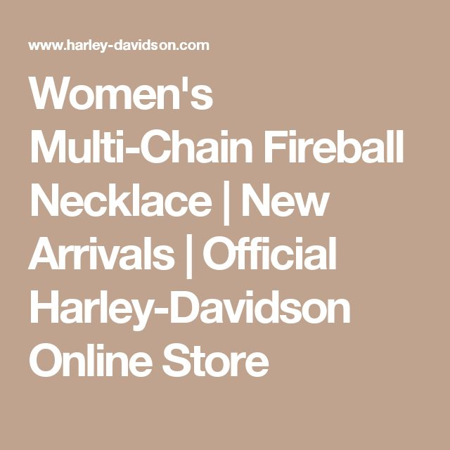Women's Multi-Chain Fireball Necklace | New Arrivals | Official Harley-Davidson Online Store