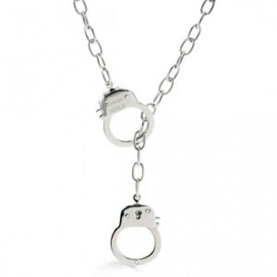 His or Her Handcuff Necklace