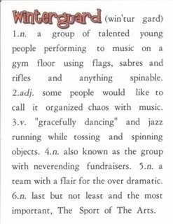 """it's my first winter season but it sounds just like marching season, minus the """"gracefully dancing"""" part..."""