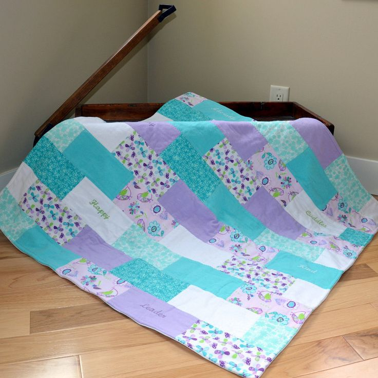 Baby Girl Blanket with EmbroideryButterflyBirdsFlowersReady to Ship