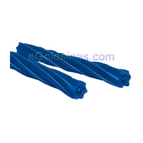 TORCIDAS JELLY RELLENA AZUL PINTA 60uds FINI son torcidas azul de frambuesa rellenas de pectina y te dejan la lengua PINTADA. Se venden 60 uds.