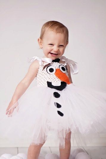 Olaf the Snowman Full White Tutu Dress by OurSweetSomethings4U $50.03+