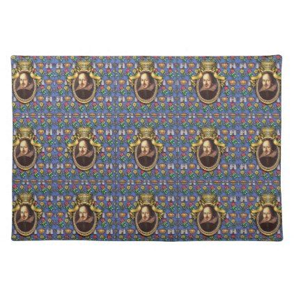 William Shakespeare Cloth Placemat - portrait gifts cyo diy personalize custom