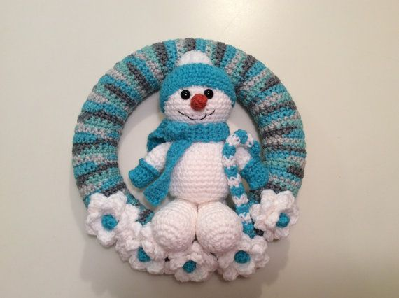 Snowman Winter Wreath tutorial  Snowman Wreath  door Teddywings