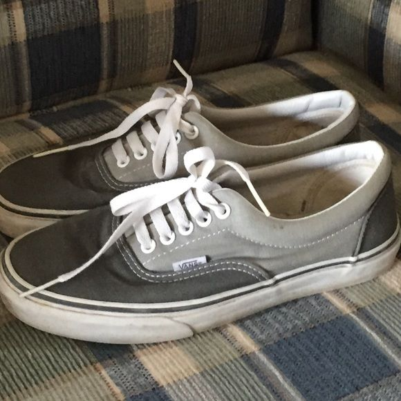 Gray vans women's size 9 Gray Vans women's size 9, that just need to be cleaned. Only worn a few times Vans Shoes
