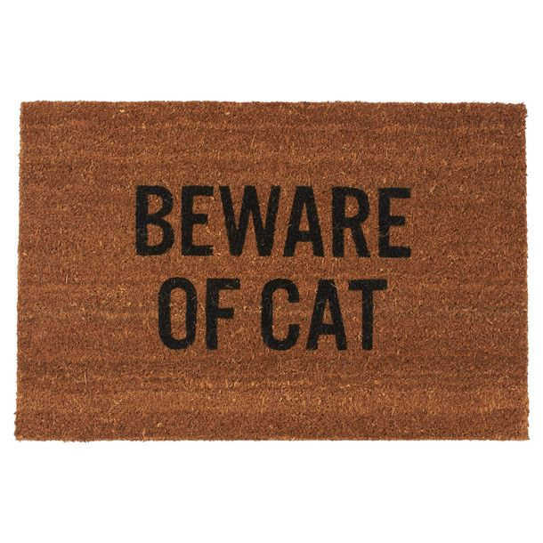 Beware Of Cat Doormat - I want, not that one need to get scared of our Gingy LOL