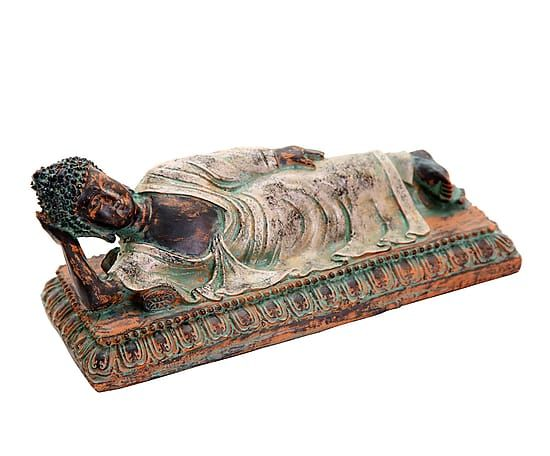 Figura decorativa de poliresina Buda - multicolor