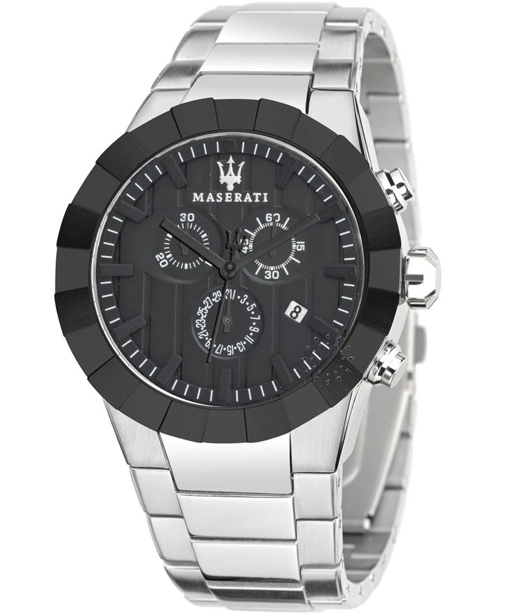 MASERATI Tridente Chronograph Stainless Steel Bracelet Μοντέλο: R8873603002 Τιμή: 299€ http://www.oroloi.gr/product_info.php?products_id=30674