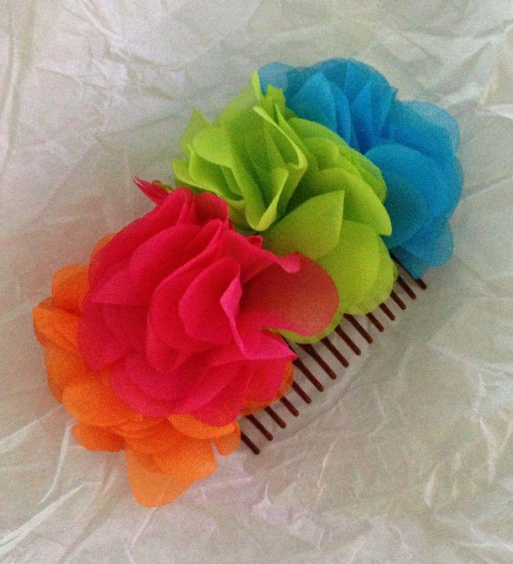 Flower hair piece clip