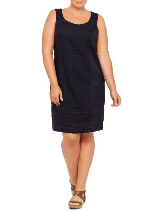 Lace and Linen Dress | David Jones