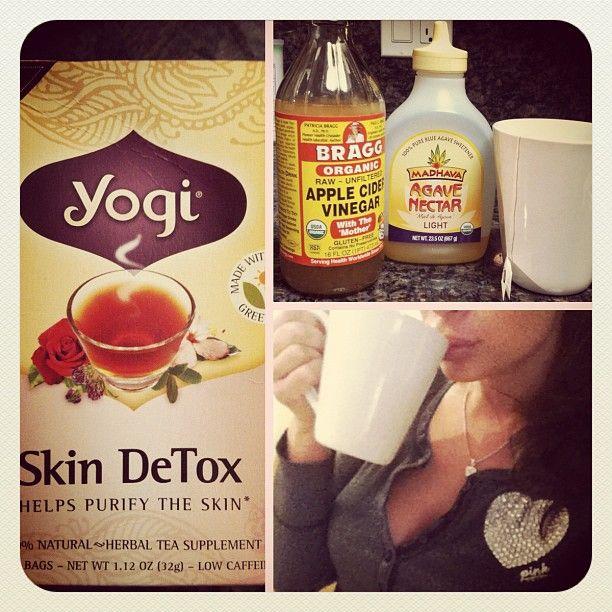 Marianna Hewitt's daily morning skin detox tea.