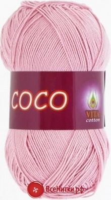 Пряжа Вита Коко (VITA Coco) №3866 чайная роза