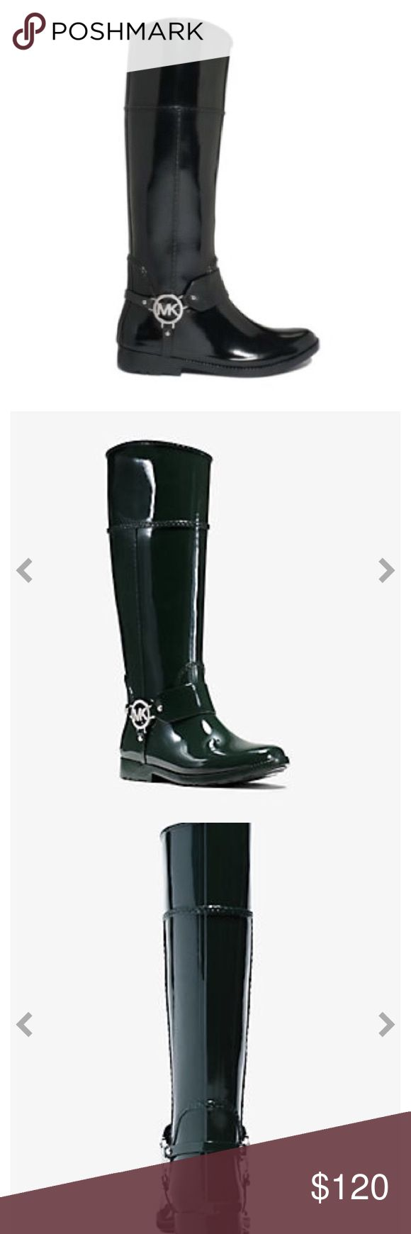 MICHAEL KORS FULTON RAIN BOOT make an offer  NEW ----MICHAEL KORS FULTON LOGO RUBBER RAIN BOOT.  Black . Brand New. Never worn. Michael Kors Shoes Winter & Rain Boots