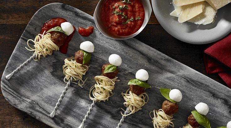Tre Stelle® Bocconcini Spaghetti Meatballs on a Stick