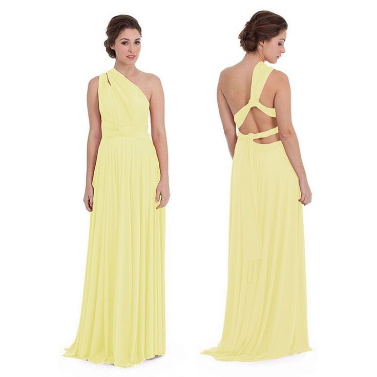 Soft romantic & on trend in our Goddess By Nature signature multiway ballgown in the pastel lemon yellow colour  similar to the one shoulder look worn by @amalclooney at #cannes2016 www.goddessbynature.com Stockists & shipping worldwide  #goddessbynature #bridal #bridesmaids #bridesmaiddress #bridesmaiddresses #bridesmaidsdress #bridesmaidsdresses #weddinginspo #bridalgown #weddinggown #redcarpetdress #formaldress #formalwear #eveningwear #redcarpetfashion #redcarpetready #promdress #engaged…