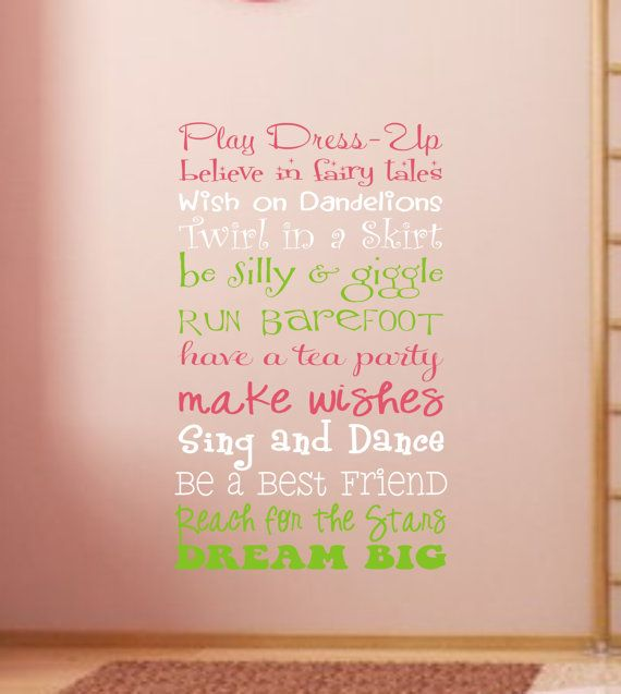 Girls Playroom Wall Decal Childrens Playroom by JustTheFrosting,