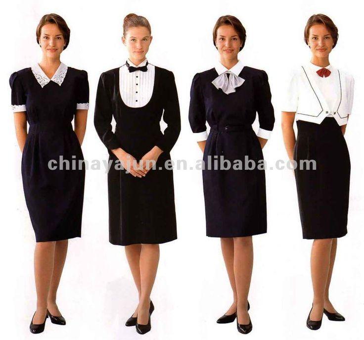 Good looking restaurant uniform for women hotel uniforms for women