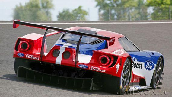 Суперкар Ford GT / Форд GT для Ле Ман – вид сзади