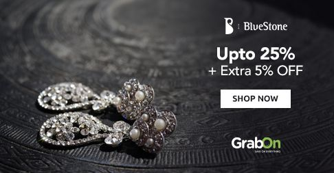 #Diamonds Are Girl's Best Friend! And Now There's a Sale On It. #Bluestone Offers Upto 25% + Extra 5% OFF. http://www.grabon.in/bluestone-coupons/
