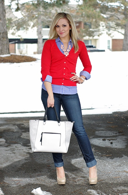 red cardigan    lynette marie: Outfit of the Day