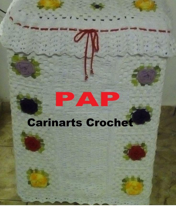 Capa para a Maquina de lavar em crochê (3°parte) FINAL  por Carina Dias