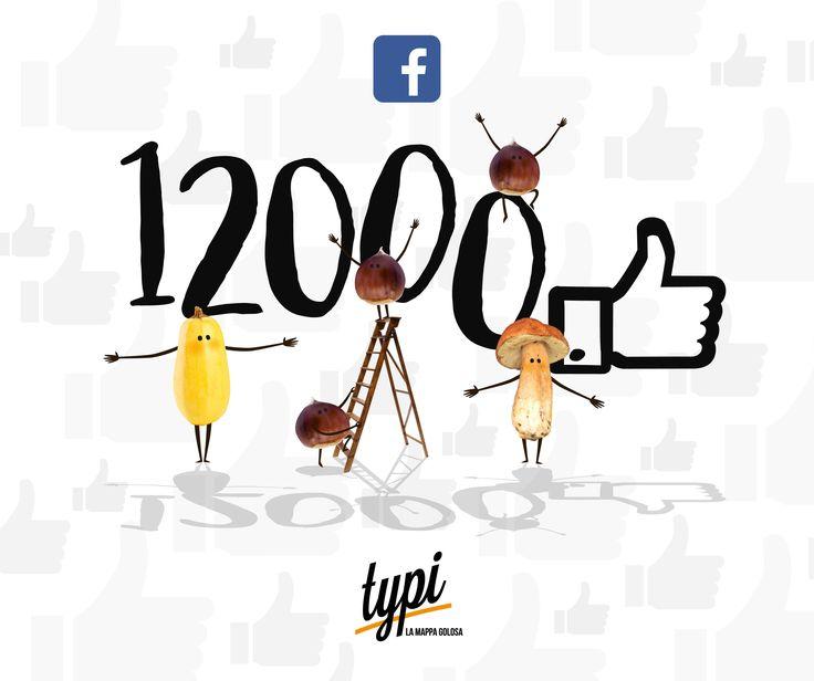 Più di 12.000 su Facebook!! Mangiare in compagnia è più bello! Invitiamo gli amici, sediamoci insieme e cresciamo attraverso le nostre passioni! La nostra è il #Typico ;)