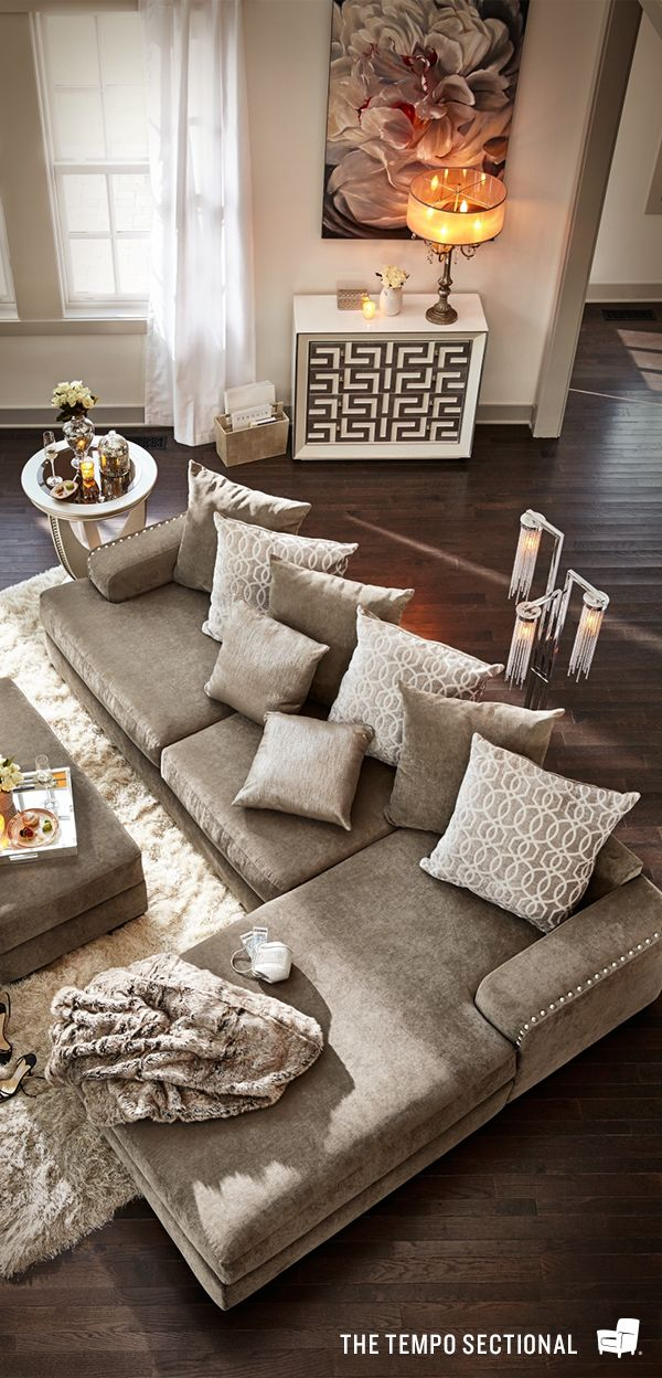 The platinum finished Tempo sectional living room collection feels as good. Top 25  best Living room sectional ideas on Pinterest   Neutral