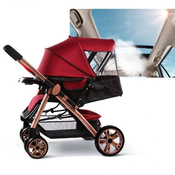 170.80$  Buy now - http://alif42.worldwells.pw/go.php?t=32635789685 - Brand New Hot Sell Baby Stoller Bekerhouder Pushchair Lightweight Infant Stroller Prams 3 In 1 Folding Umbrella Carrinho De Bebe