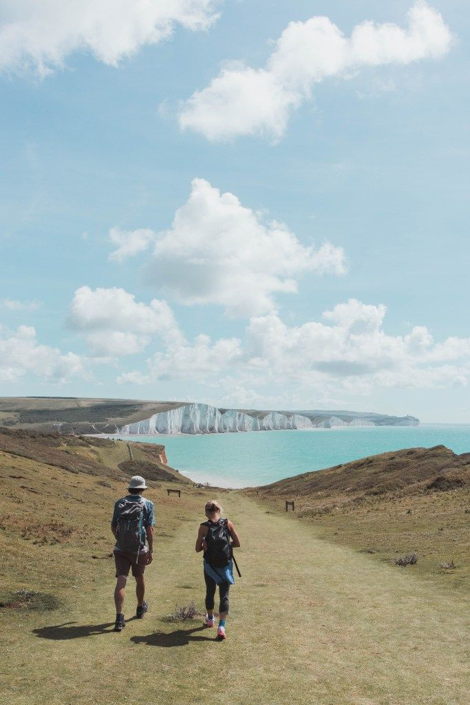 The Seven Sister's Hike, Est Sussex, UK