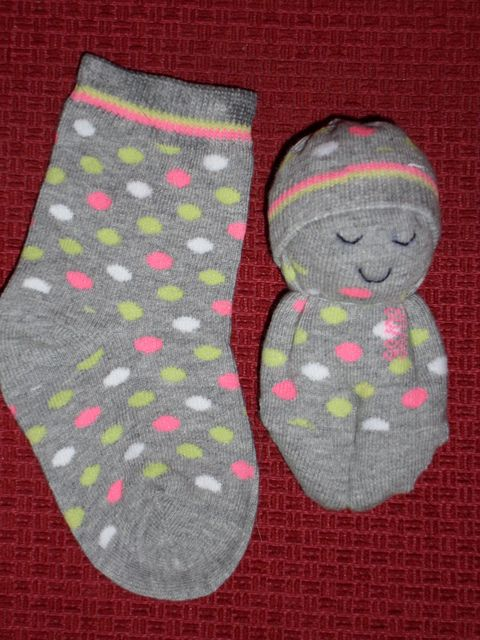 Sockenpuppe. Für all die übriggebliebenen einzelnen Socken ;)